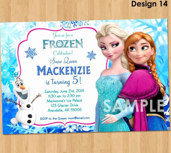 Frozen Invite Template Free Unique Frozen Invitation Disney Frozen Invitation Printable