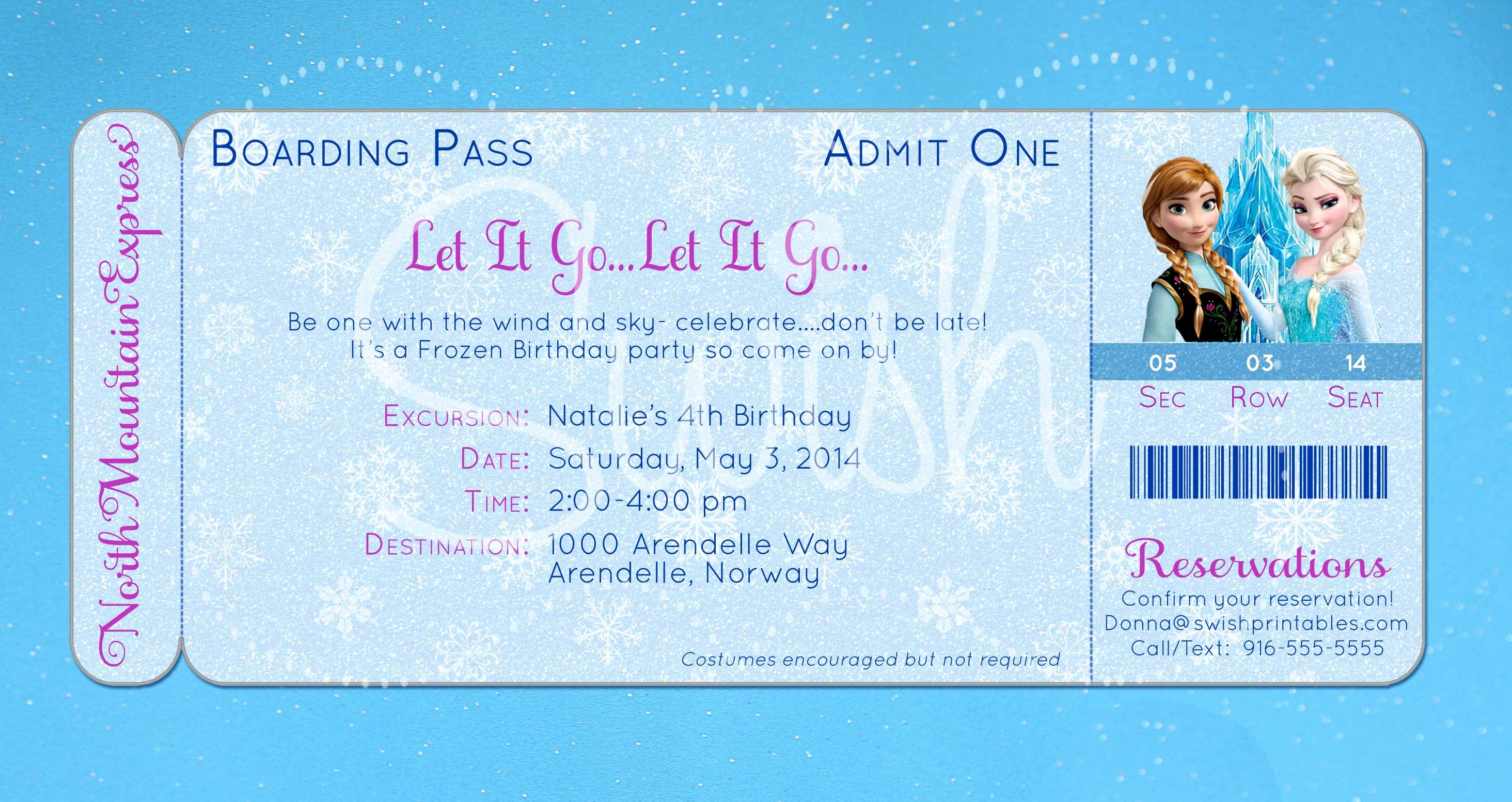 Frozen Invite Template Free Unique Frozen Invitation Template