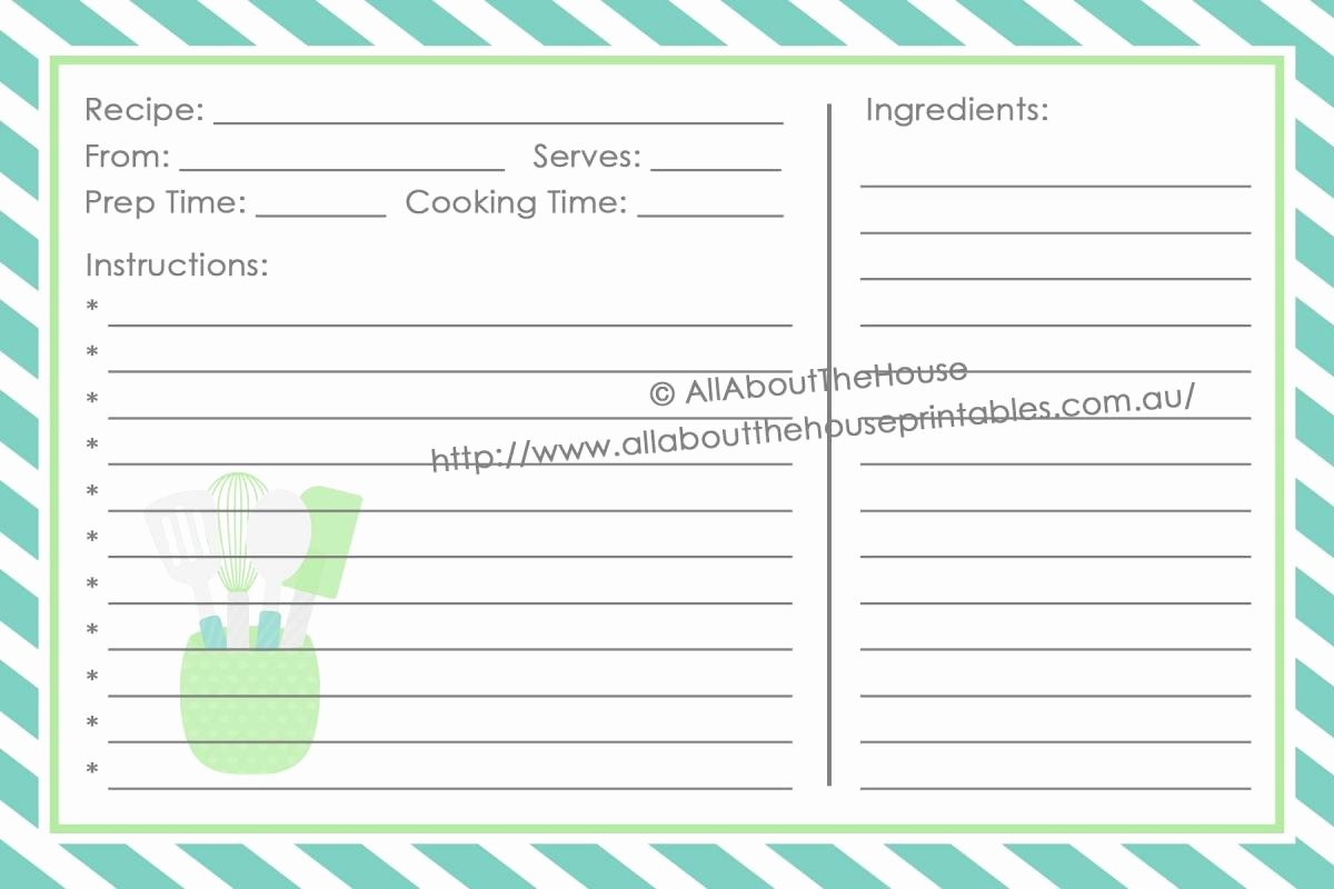 Full Page Recipe Template Best Of Full Page Recipe Template for Word