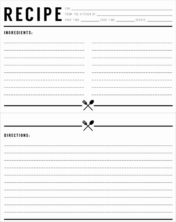 Full Page Recipe Template Luxury Free Printable Full Page Recipe Templates