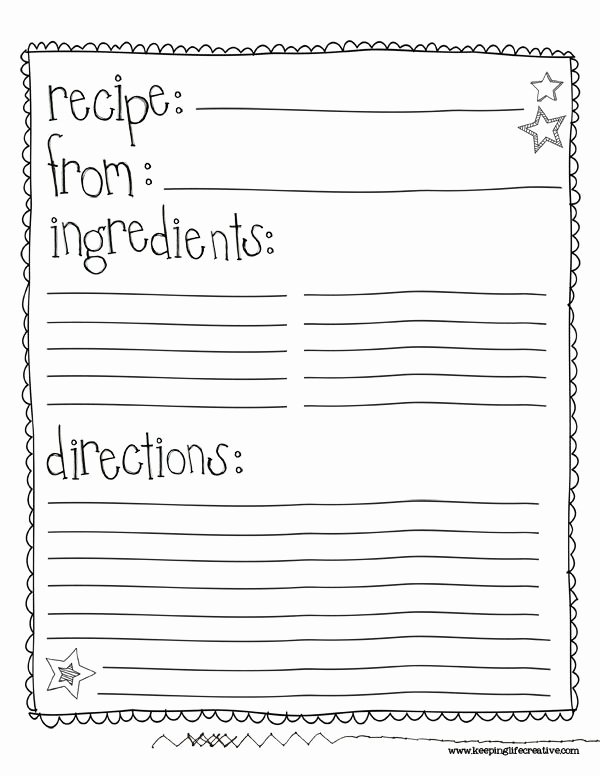 Full Page Recipe Template New Best 25 Recipe Templates Ideas On Pinterest