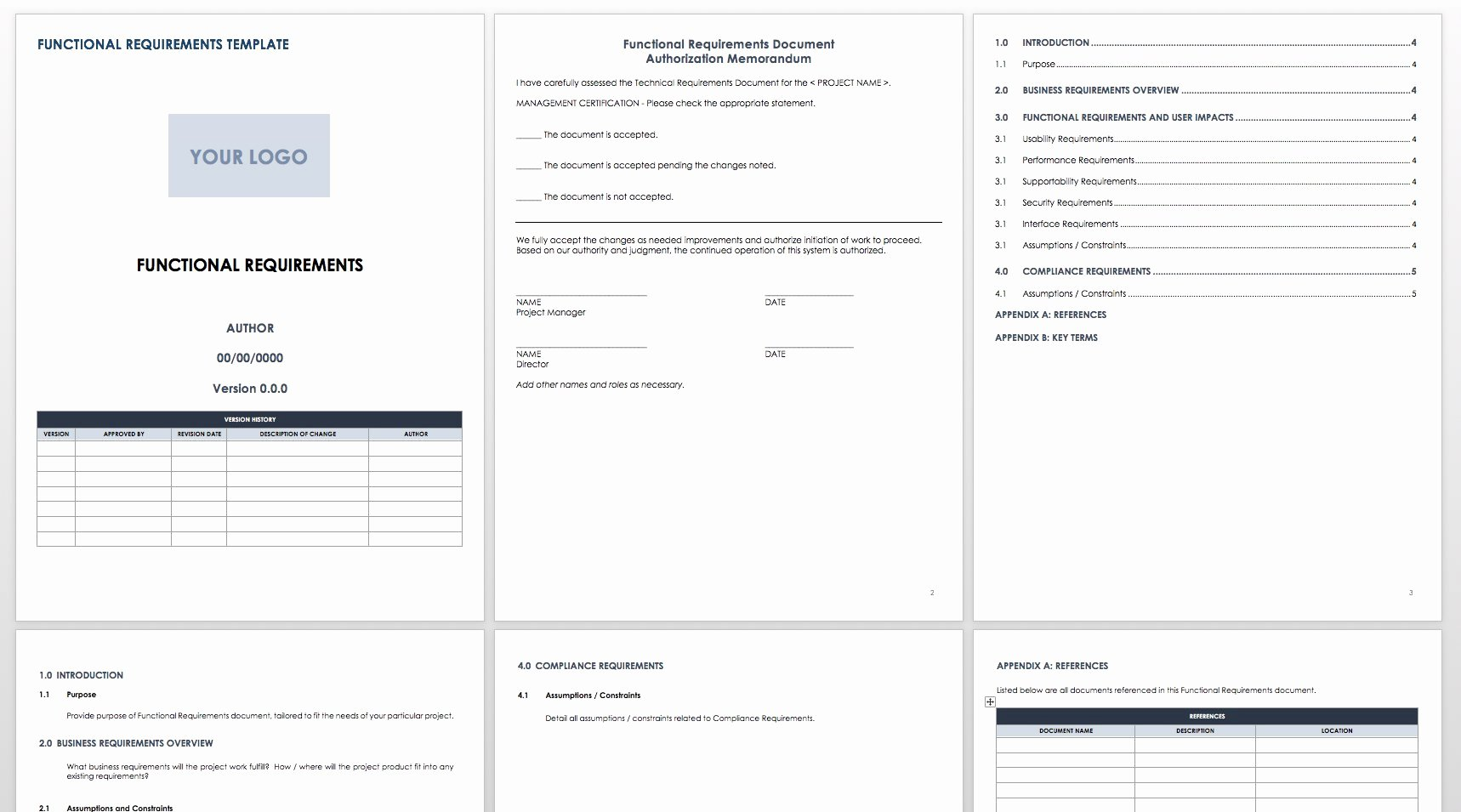 Functional Requirements Template Excel Lovely Free Functional Specification Templates