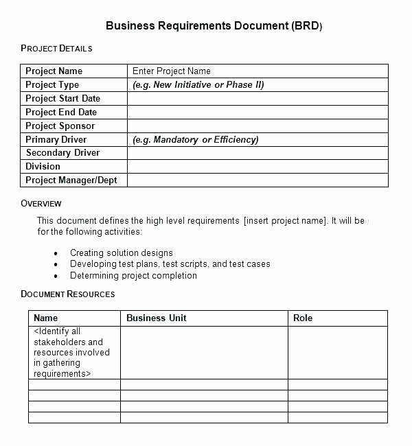 Functional Requirements Template Excel Luxury Template Non Functional Business Requirements Template