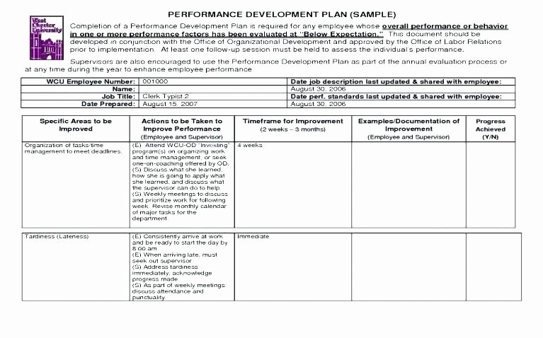 Fund Development Plan Template Luxury Work Development Plan Template Employee Development Plans