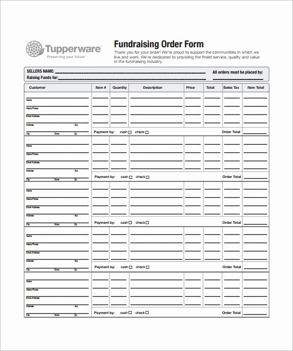 Fundraiser form Template Free Fresh order form Template 23 Download Free Documents In Pdf