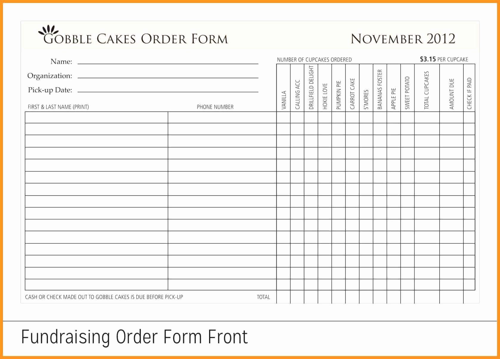 Fundraiser form Template Free Inspirational 7 8 Fundraising form