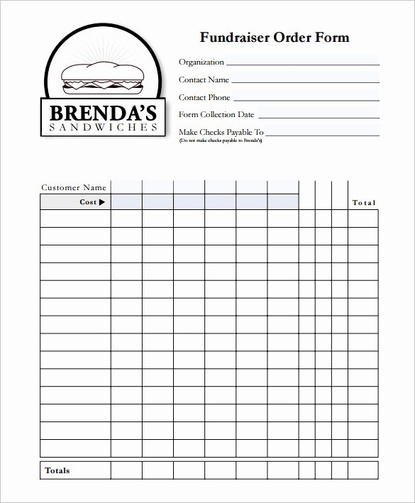 Fundraiser form Template Free Lovely 29 order form Templates Pdf Doc Excel