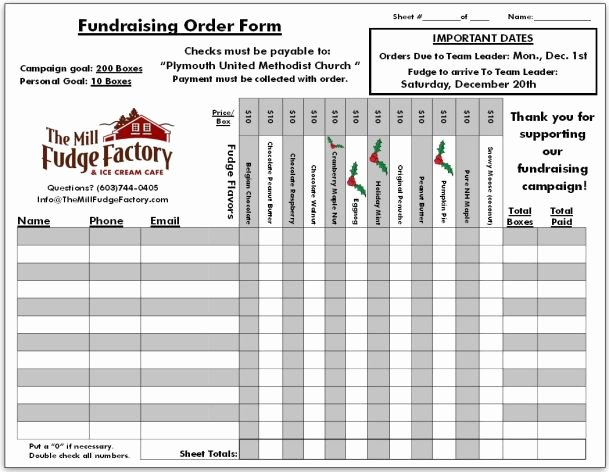 Fundraiser order form Template Awesome Fundraiser order Templates Word Excel Samples