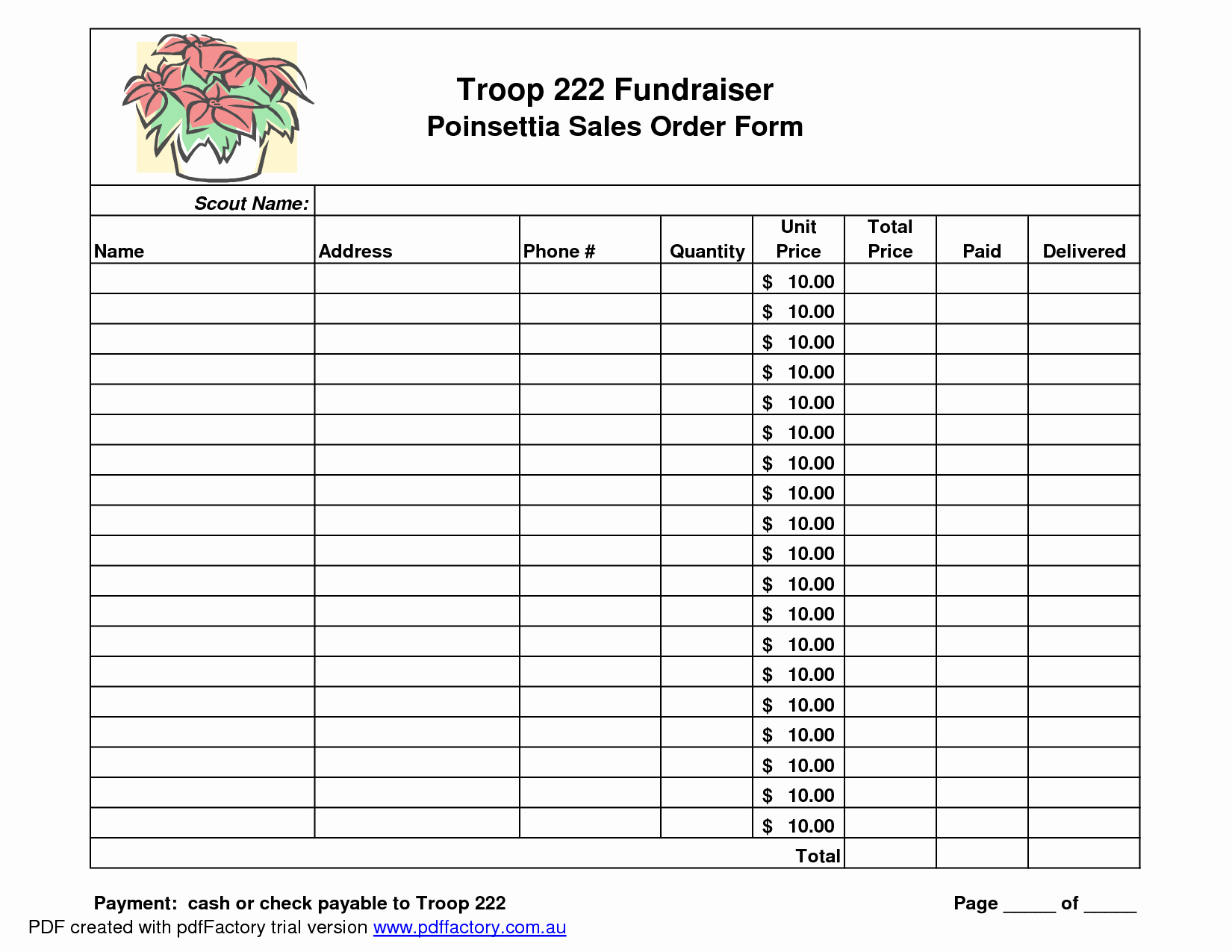 Fundraiser order form Template Best Of Best S Of Editable Fundraising order form