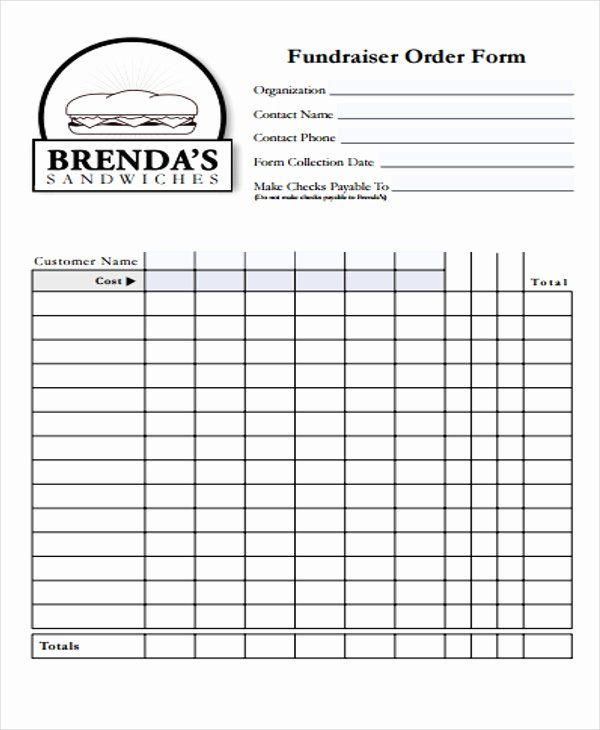 Fundraiser order form Template Unique 32 Sample order forms