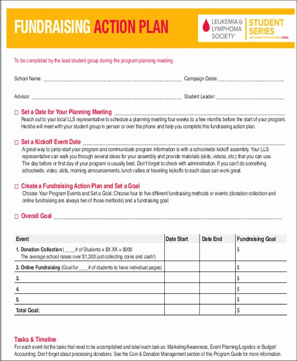 Fundraising event Planning Template Fresh 7 event Action Plan Templates 7 Free Word Pdf format
