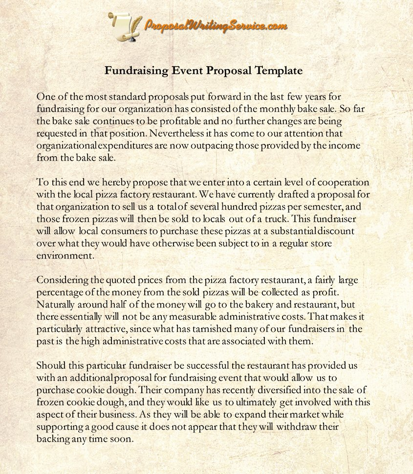 Fundraising event Planning Template Lovely Fundraising event Proposal Sample