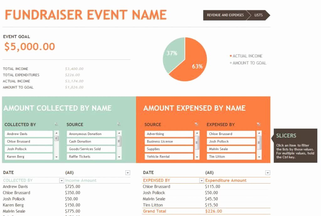 Fundraising Plan Template Excel Best Of Fundraising Bud Template