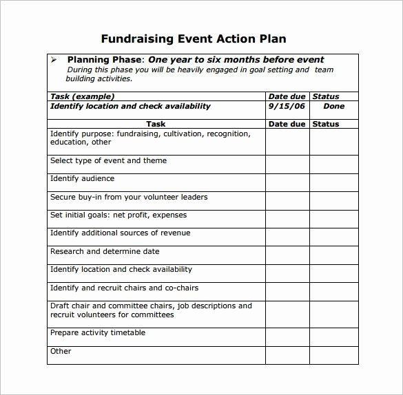 Fundraising Plan Template Free Awesome event Planning Template 9 Free Word Pdf Documents