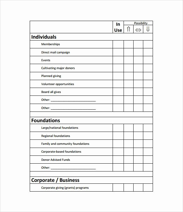 Fundraising Plan Template Free Luxury Fundraising Plan Template