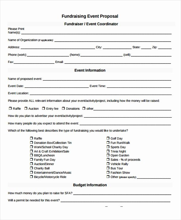 fundraising event proposal