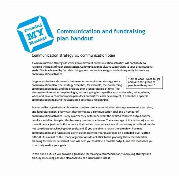 Fundraising Plan Template Free Unique 16 Fundraising Plan Templates Free Sample Example