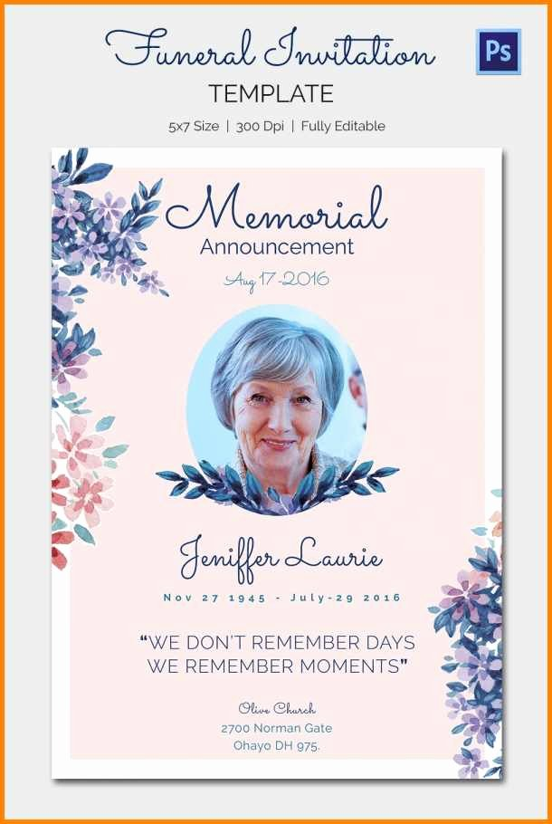 Funeral Announcement Template Free Awesome 13 Funeral Announcement Template Free Steamtraaleren