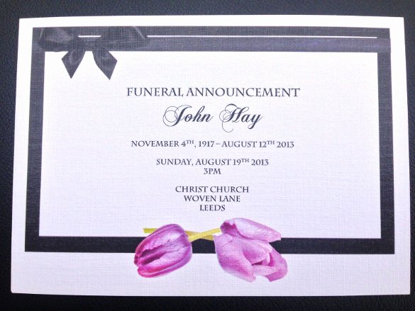 Funeral Announcement Template Free Elegant 13 Funeral Invitation Templates Free Psd Vector Eps