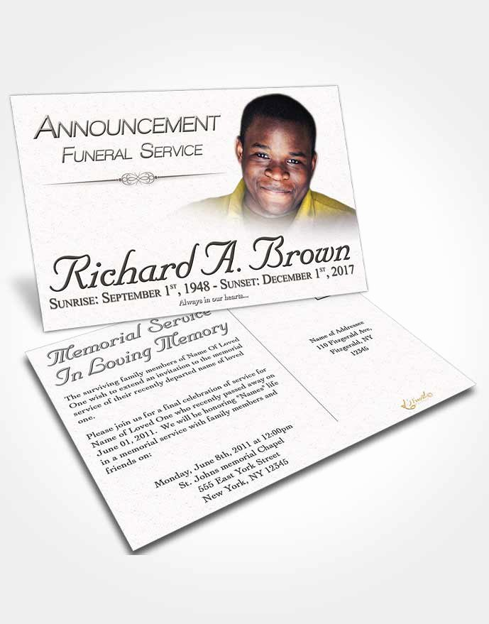Funeral Announcement Template Free Elegant Obituary Template Trifold Brochure Free Bliss • Funeralparlour
