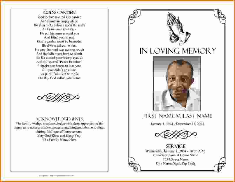 Funeral Announcement Template Free Inspirational Memorial Service Program Template Microsoft Word