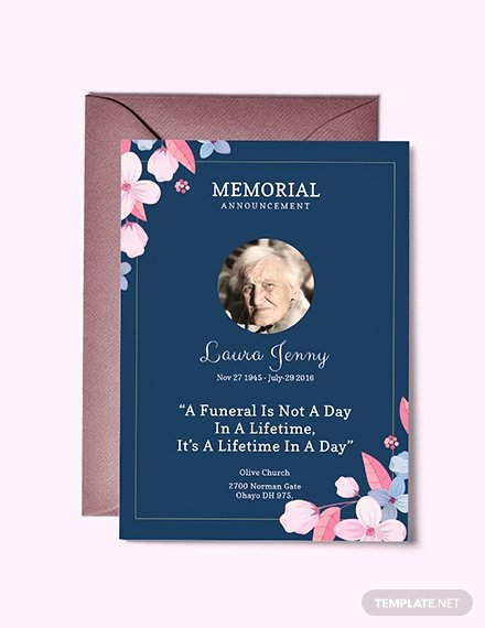 Funeral Announcement Template Free Luxury Free Funeral Service Invitation Template Download 518