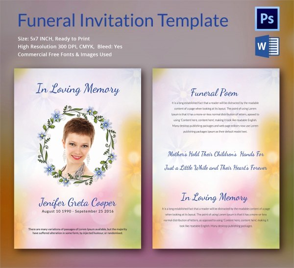 Funeral Announcement Template Free Luxury Sample Funeral Invitation Template 11 Documents In Word
