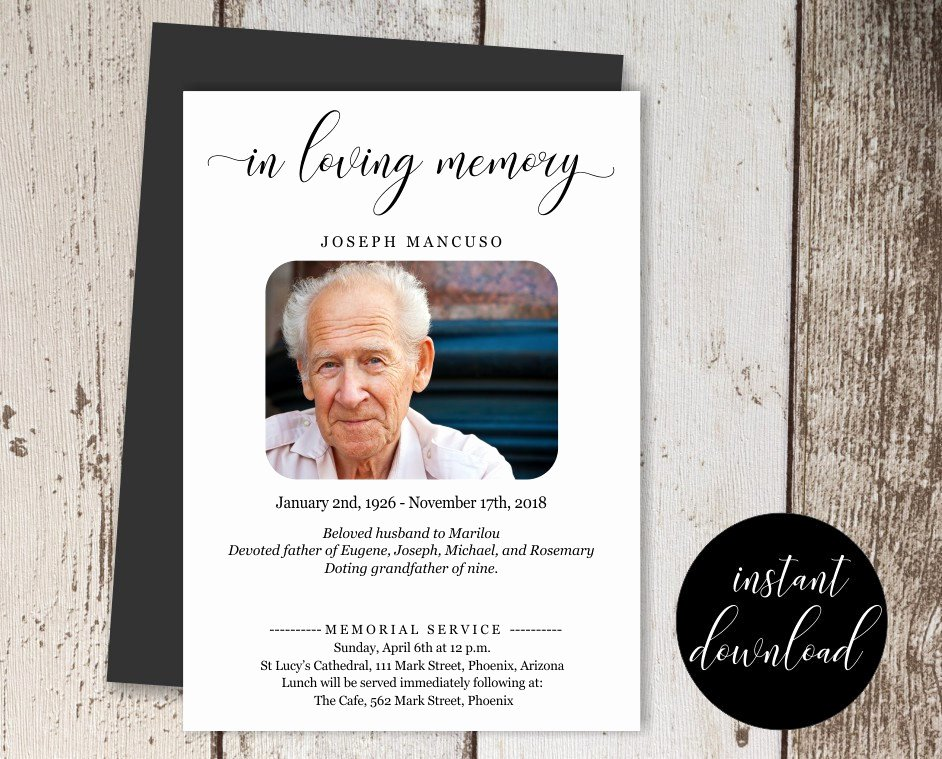 Funeral Announcement Template Free Unique 14 Funeral Announcement Designs and Examples Psd Ai