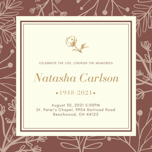 Funeral Announcement Template Free Unique Customize 40 Funeral Invitation Templates Online Canva