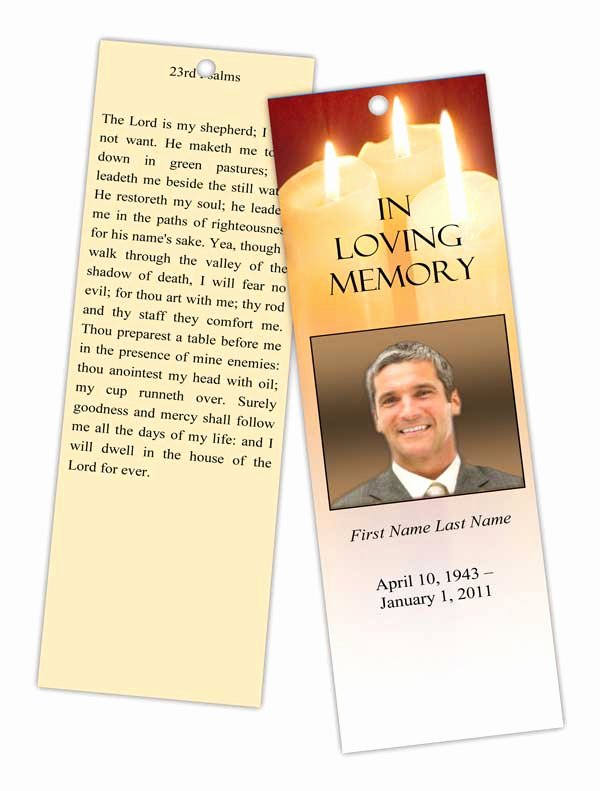 Funeral Bookmarks Template Free Awesome Elegant Memorials Redesigns Website