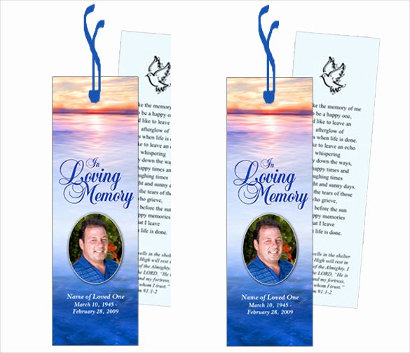 Funeral Bookmarks Template Free Beautiful 21 Funeral Bookmark Templates Word Psd
