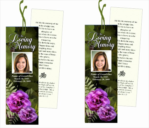 Funeral Bookmarks Template Free Beautiful Funeral Bookmark Template 22 Free Psd Ai Vector Eps