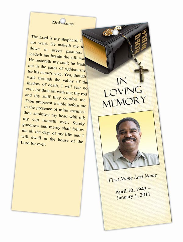 Funeral Bookmarks Template Free Best Of Bible Memories Memorial Bookmark Template Elegant Memorials