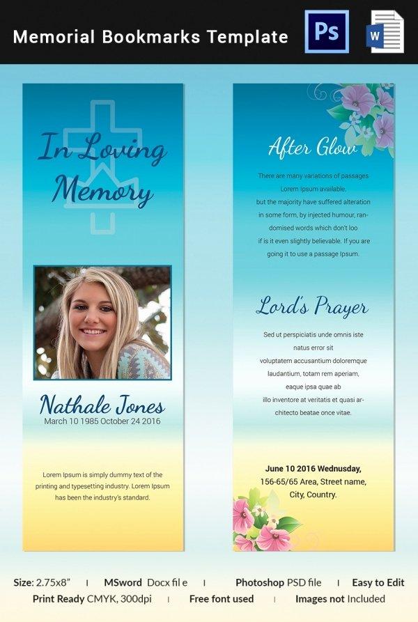 Funeral Bookmarks Template Free Elegant 10 Memorial Bookmarks Templates Free Psd Ai Eps