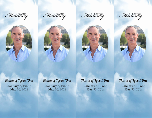 Funeral Bookmarks Template Free Elegant 8 Best Of Obituary Bookmarks Free Printable Free