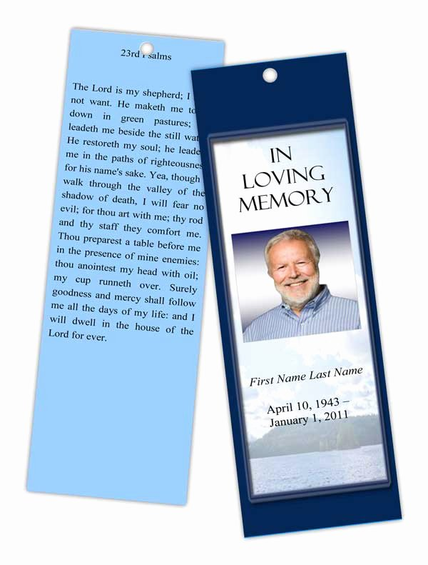 Funeral Bookmarks Template Free Fresh 9 Best Of Free Memorial Bookmark Templates Free