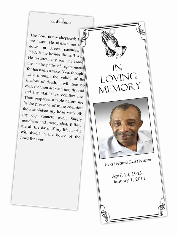 Funeral Bookmarks Template Free Fresh Funeral Program Templates