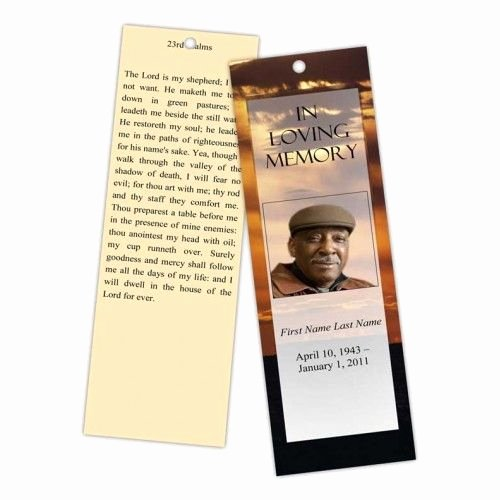 Funeral Bookmarks Template Free Lovely 12 Best Memorial Bookmarks Printable Templates Images On