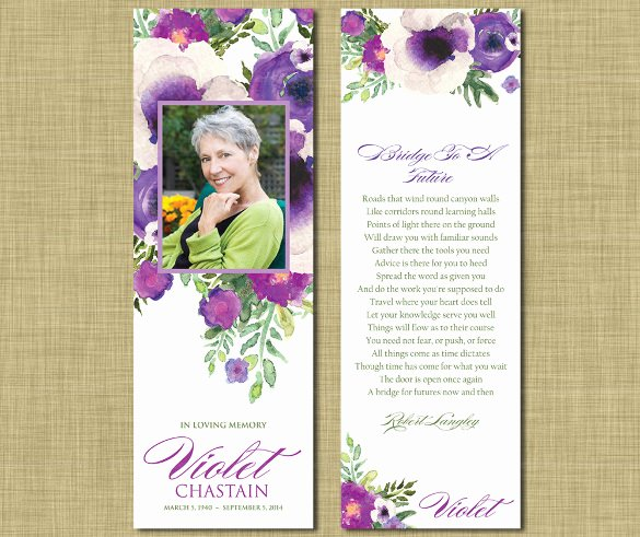 Funeral Bookmarks Template Free Lovely 15 Funeral Bookmark Templates Psd Vector Eps