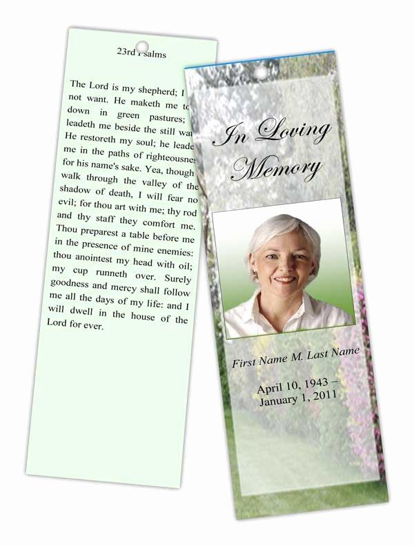 Funeral Bookmarks Template Free Luxury Funeral Program Templates Memorial Bookmark