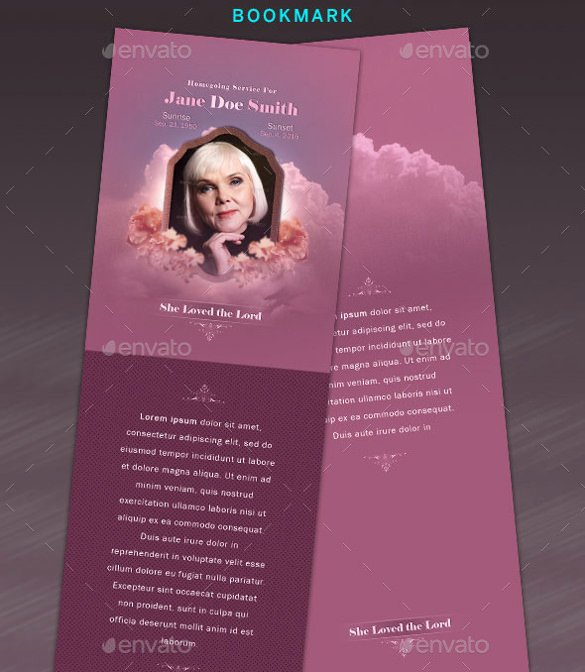 Funeral Bookmarks Template Free New 15 Funeral Bookmark Templates Psd Vector Eps