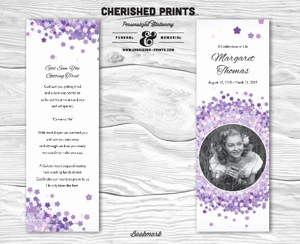 Funeral Bookmarks Template Free New 21 Funeral Bookmark Templates Word Psd