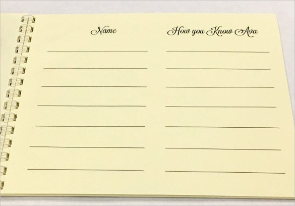 Funeral Guest Book Template Luxury 10 Guest Books