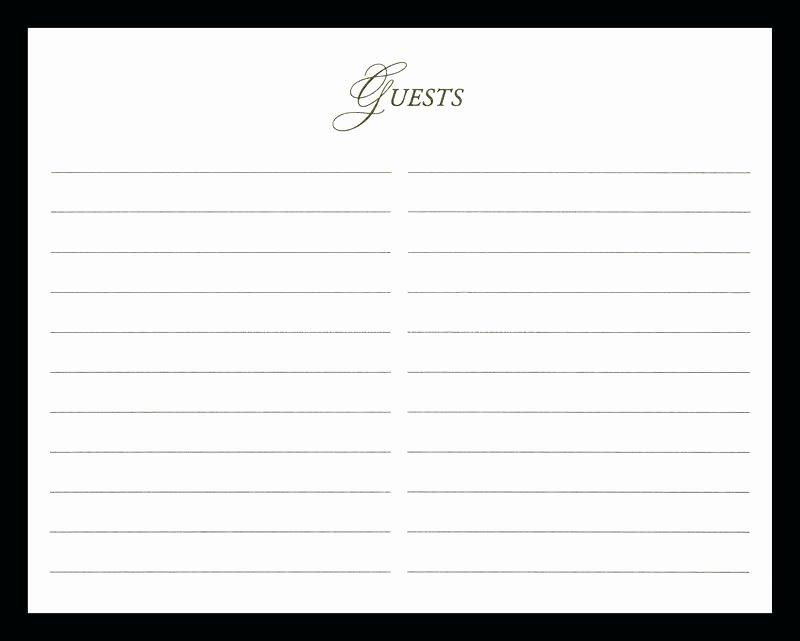 Funeral Guest Book Template New Best Printable Wedding Guest Book Alternative Templates