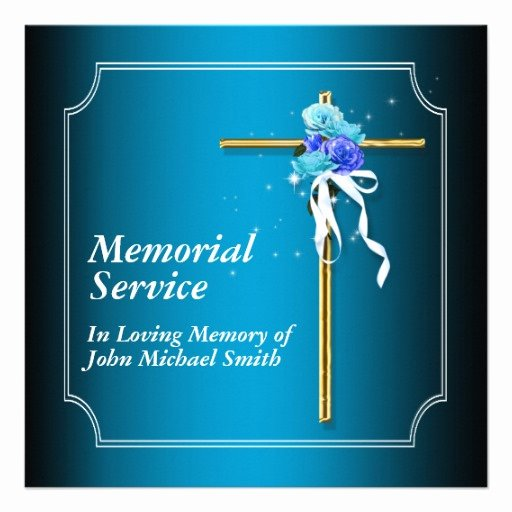 Funeral Invitation Template Free Awesome 6 Best Of Memorial Service Background Memorial