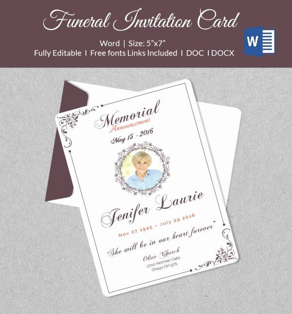 Funeral Invitation Template Free Best Of 50 Microsoft Invitation Templates Free Samples