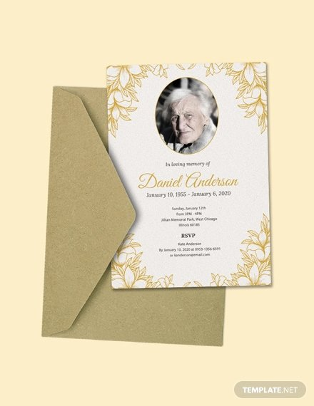Funeral Invitation Template Free Best Of Free Simple Funeral Invitation Template Download 513