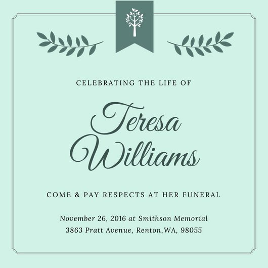 Funeral Invitation Template Free Elegant Customize 40 Funeral Invitation Templates Online Canva