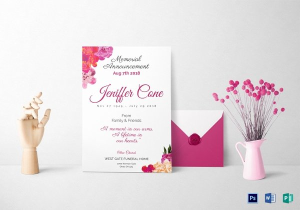 Funeral Invitation Template Free Inspirational 13 Funeral Invitation Templates Free Psd Vector Eps