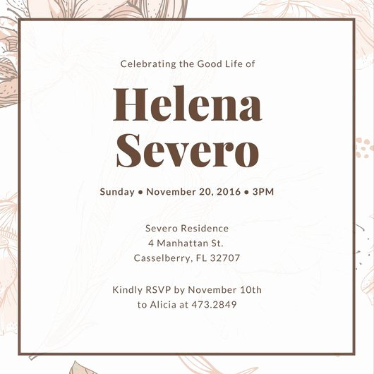 Funeral Invitation Template Free Luxury Customize 40 Funeral Invitation Templates Online Canva